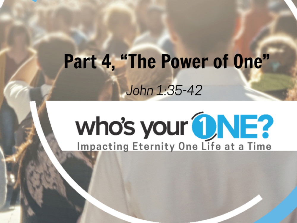"Part 4, ""The Power of One"" Image"