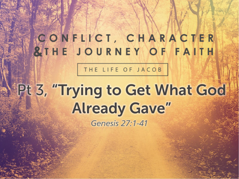 "Part 3, ""Trying to Get What God Already Gave"" Image"