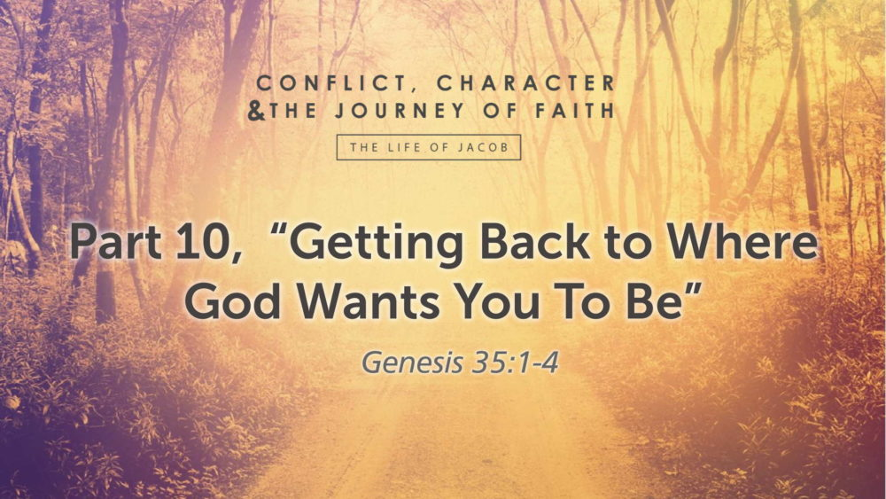"Part 10, ""Getting Back to Where God Wants You To Be"" Image"