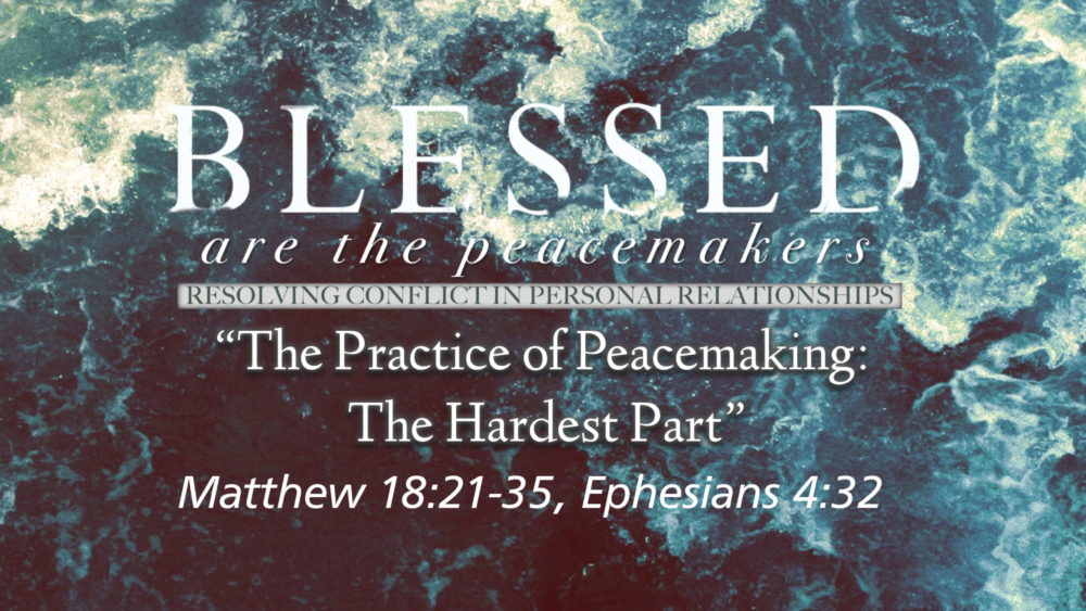 "Part 8, ""The Practice of Peacemaking: The Hardest Part"" Image"