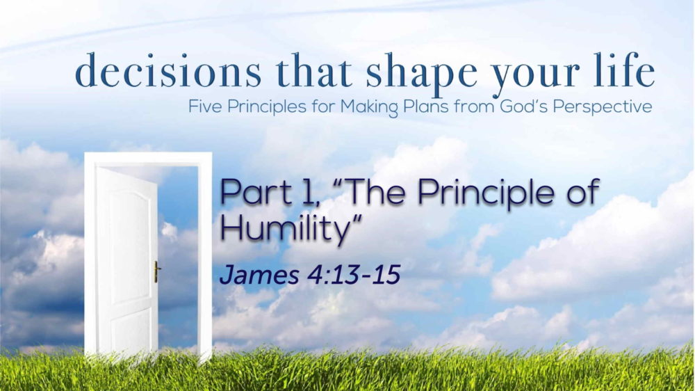 "Part 1, ""The Principle of Humility"" Image"