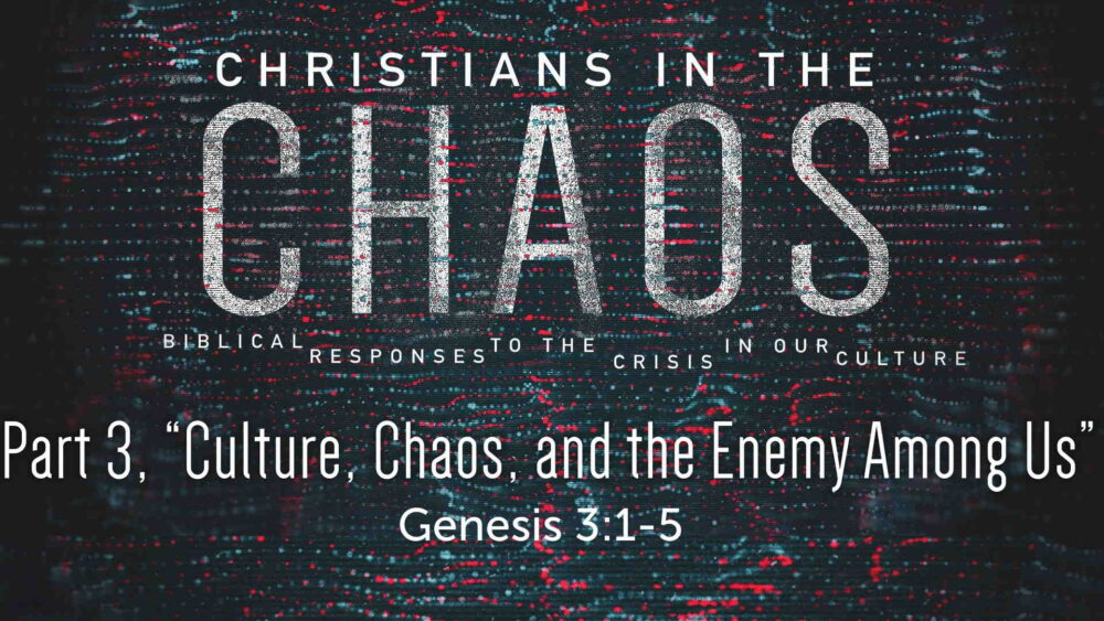 "Part 3, ""Culture, Chaos, and the Enemy Among Us"" Image"
