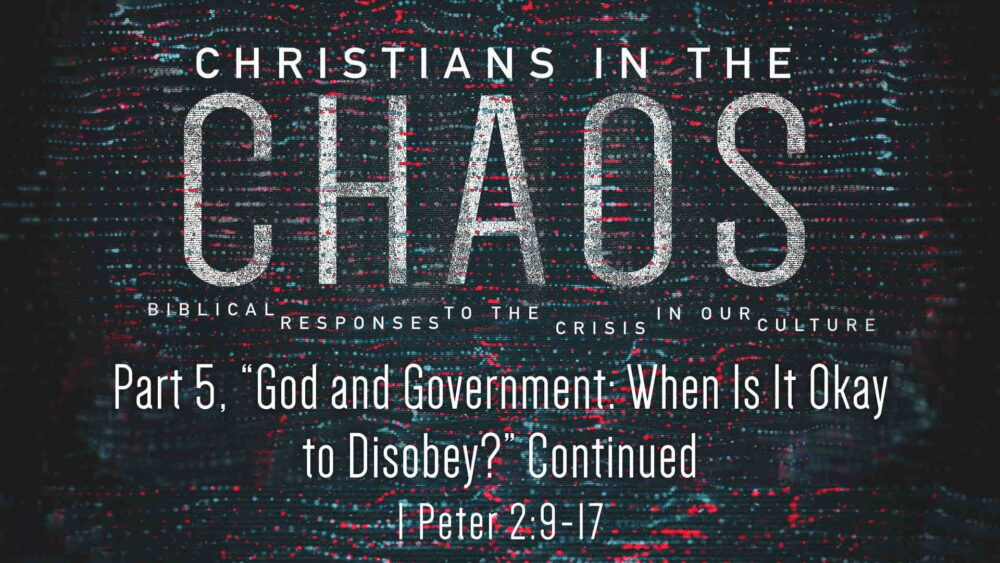 "Part 5, ""God and Government: When Is It Okay to Disobey?"" continued Image"