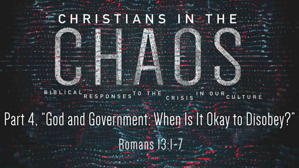 "Part 4, ""God and Government: When Is It Okay to Disobey?"" Image"